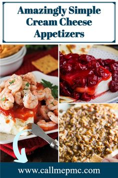 Easy Block Cream Cheese Appetizer Spreads that make a tasty last-minute appetizer with just a few ingredients. #appetizers #easy #recipes #creamcheese #entertaining #parties Cream Cheese Desserts, Cheese Appetizers, Appetizer Recipes, Thanksgiving Appetizers, Holiday Appetizers, Southern Food, Southern Recipes, Cajun Recipes, Easy Recipes