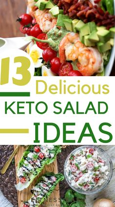 Keto salad recipes for a ketogenic diet. Check the low carb and 13 easy keto salad ideas to be in ketosis. are diets healthy for weight loss, diet how weight loss, Diets Weight Loss, eating is weight loss, Health Fitness Healthy Diet Recipes, Ketogenic Recipes, Ketogenic Diet, Salad Recipes, Keto Recipes, Vegetarian Recipes, Healthy Eating, Cooker Recipes, Ketogenic Cookbook