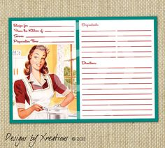 Blank Recipe Card Template Fresh Retro Blank Recipe Card Digital Template by Pinkpapertrail Business Cards Online, Create Business Cards, Elegant Business Cards, Custom Business Cards, Scrapbook Recipe Book, Printable Recipe Cards, Scrapbook Templates, Vintage Scrapbook, Book Projects