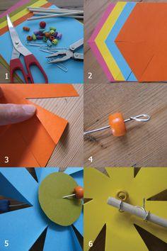 Spring Flower Pinwheel Craft | Alpha Mom