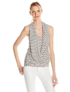 Ella moss Women's Mateo Striped Jersey Tank Top - Throw-On-and Go Shirts http://trendtags.net #fashion #summer2015