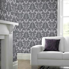 Aurora Black / Gray Wallpaper by Graham and Brown