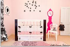 Chic Parisian Nursery - eclectic - kids - orange county - by Little Crown Interiors. Wall flowers chair
