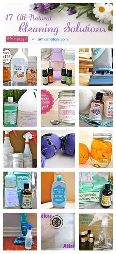 {17 All-Natural Cleaning Solutions}   curated by 'My Merry Messy Life' blog!