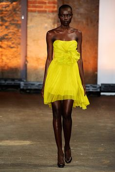 Christian Siriano ( winner of Project Runway Season 4) Spring 2012 Collection   Love this dress! Maybe another color.