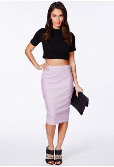 Sergia Rose Gold Metallic Mini Skirt - Skirts - Missguided ...