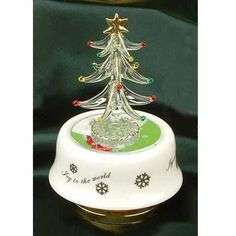 Christmas Tree Music Trinket Jewelry Box Collectible « Holiday Adds
