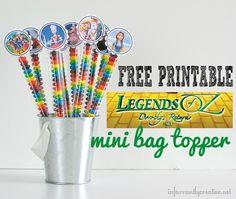 legends of oz printable topper
