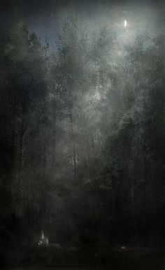 yaroslav gerzhedovich, - Little Night Story 2011 Landscape Art, Landscape Paintings, Landscape Drawings, Moonlight Painting, Illustrations, Illustration Art, Arte Horror, Moon Art, Dark Art
