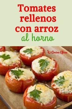 Tomates rellenos con arroz al horno - Fırın yemekleri - Las recetas más prácticas y fáciles Baked Potato, Delish, Bbq, Easy Meals, Healthy Recipes, Cooking, Ethnic Recipes, Food, Home