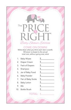 Instant Download Pink Elephant Baby Shower by Studio20Designs
