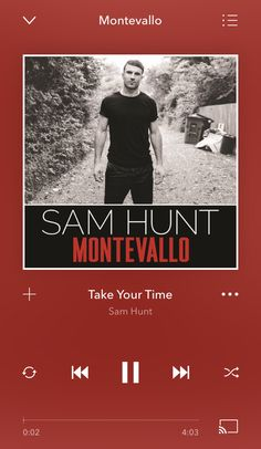 Country Playlist, Sam Hunt, Take Your Time, Movies, Movie Posters, Films, Film Poster, Cinema, Movie