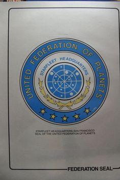 STAR TREK Vinyl Sticker decal Starfleet Federation Seal A4 size