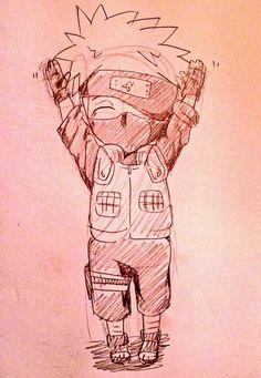 Kakashi Drawing, Naruto Sketch Drawing, Naruto Drawings, Anime Sketch, Anime Naruto, Naruto Fan Art, Anime Chibi, Kakashi Hatake, Naruto Uzumaki
