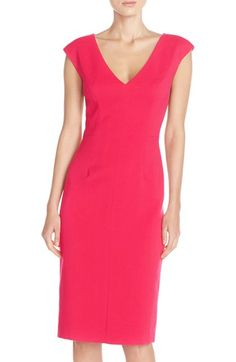Eliza J Crepe Sheath Dress (Regular & Petite) available at #Nordstrom