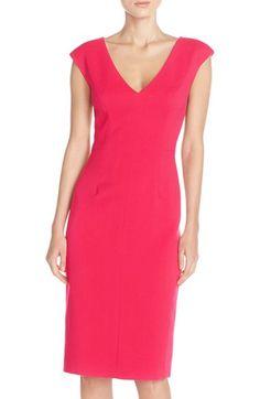 Eliza J Crepe Sheath Dress (Regular & Petite) available at #Nordstrom