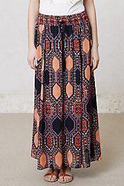 Hexprint Maxi Skirt by...