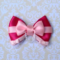 Cinderella Pink Dress Inspired Bow by SmallWorldBows on Etsy, $9.00