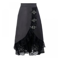 Top Gothic Fashion Tips To Keep You In Style. As trends change, and you age, be willing to alter your style so that you can always look your best. Consistently using good gothic fashion sense can help Dress Skirt, Lace Skirt, Satin Skirt, Barbie Mode, Steampunk Skirt, Diy Mode, Black Midi Skirt, Party Skirt, Lace Ruffle