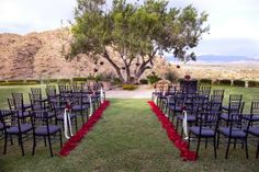 Outdoor Wedding Ideas for Summer Wedding Classic with Red and Black