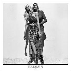 Claudia Schiffer, Cindy Crawford and Naomi Campbell for Balmain SS16