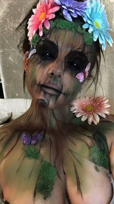 I AM GROOT #makeup #halloweenmakeup IG: beauty.x.jenna