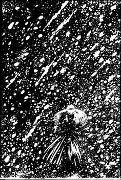 Marv from Sin City: Silent Night page 3 by Frank Miller Frank Miller Sin City, Frank Miller Art, Frank Miller Comics, Comic Book Artists, Comic Artist, Comic Books Art, Dc Comics, White Art, Harvest Moon