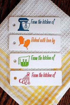 8 Letterpress Printed Gift Tags by ArtsAndRecPress on Etsy, $7.00