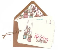Printathome Woodland Walk A5 Wedding Invitation recycled card