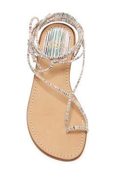Nieta Lace-Up Flat Sandal by Stuart Weitzman on @nordstrom_rack