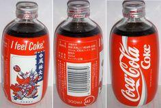 Coke BR News - Coke Blog - Coca-Cola Blog: Coca-Cola One Way 300 ml Glass Wrapped Bottle Japan 1988