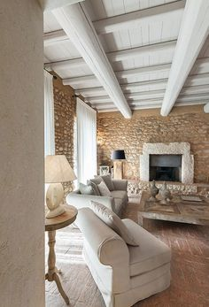 Discover recipes, home ideas, style inspiration and other ideas to try. French Country House, Stone Houses, Shabby Chic Homes, Dream Rooms, Rustic Interiors, Home Fashion, My Dream Home, Home Interior Design, Home And Living
