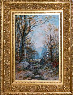 Bohumil Jaroš (1856 - 1924)   Krajina s balvany   www.marold.cz/aukce