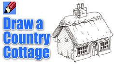How to draw a Cottage Real Easy