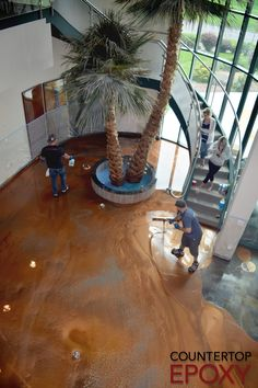 Countertop Epoxy offers FX Metallic Flooring Epoxy for your kitchen, living room, bathroom, or just about any room in the house you wish to coat! Get a beautiful copper look like the one at the Countertop Epoxy HQ!