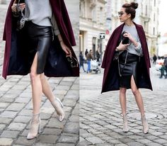 Get this look: http://lb.nu/look/8625689  More looks by Markéta Bártová: http://lb.nu/marketabartova  Items in this look:  Bershka Faux Leather Skirt, Zara Quilted Crossbody Bag   #chic #elegant #street