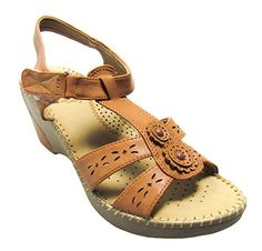Via Pinky Womens Mary11 Camel wedgessandals shoe 7 DM US ** Check this awesome product by going to the link at the image.
