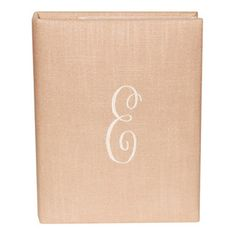 Pink Linen Photo Album with Monogram. To hold all of my baby's beautiful photos! #laylagrayce #newportcottages