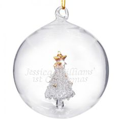 Personalised Glass Christmas Tree Bauble  from Personalised Gifts Shop - ONLY £10.99