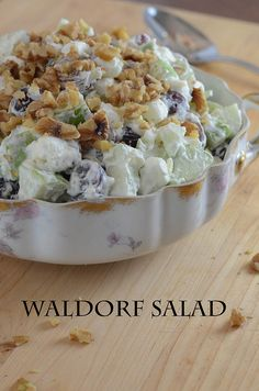 Waldorfsalat ~ www.fromvaleriesk … – – Waldorfsalat ~ www. Fruit Recipes, Salad Recipes, Cooking Recipes, Wardolf Salad Recipe, Recipies, Pineapple Recipes, Thanksgiving Recipes, Holiday Recipes, Waldorf Salat