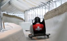 Marius Schneider SUI competes in the Mens Monobob competition at the Lillehammer Olympic Sliding Centre during the Winter Youth Olympic Games Lillehammer Norway @lillehammer2016 @jedleicesterphoto