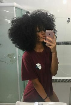 """Wish my hair was like this"" Pelo Natural, Natural Hair Tips, Natural Hair Journey, Natural Hair Styles, Black Girls Hairstyles, Afro Hairstyles, Pelo Afro, Natural Hair Inspiration, Curly Girl"