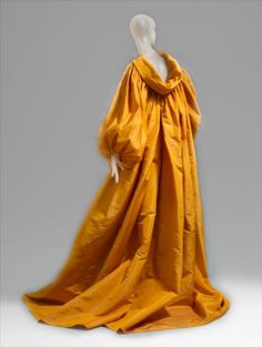 Yves St Laurent-Yellow Silk Faille Coat Fashion at the Metropolitan Museum of Art by Winter Phoenix, via Flickr