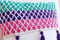Here is a video to Learn how to crochet the Moroccan Tile Stitch in the round! Click the image below to See the tutorial!