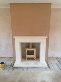 how to make a false chimney breast to house a tv and electric fire Wood Stove Hearth, Stove Fireplace, Wood Burner, Brick Fireplace, Fireplace Surrounds, Interior Design Tips, Interior Design Living Room, Kitchen Interior, Limestone Fireplace