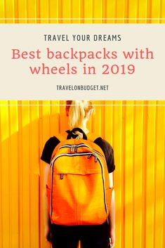 You want to avoid buying a rigid bag too big but you are afraid that your travel bag will be too heavy to carry it? Why not opt for a wheeled travel bag? Hand Luggage, Carry On Luggage, Best Travel Bags, Backpack With Wheels, Lightweight Backpack, Trolley Bags, Travel Gadgets, In 2019, Cool Backpacks