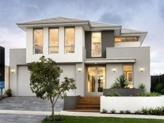Narrow lot two storey display homes perth renowned - architecture plans 2 Storey House Design, Bungalow House Design, Small House Design, Modern House Design, Double Storey House Plans, Hamptons Style Homes, Storey Homes, Luxury Homes Dream Houses, Modern House Plans