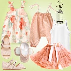 Romantic outfits for the summer time// www.kid-a.gr #kids