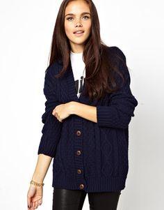 Image 1 ofGlamorous Aran Knit Boyfriend Cardigan