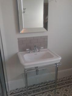 fired earth patisserie - Google Search Bathroom Border Tiles, Bathroom Layout, Bathroom Flooring, Bathroom Ideas, Loft Bathroom, Family Bathroom, Fired Earth Bathroom, Toilet Sink, Downstairs Toilet